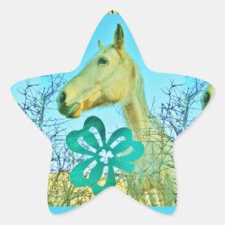 St. patty's Day Horse Star Sticker