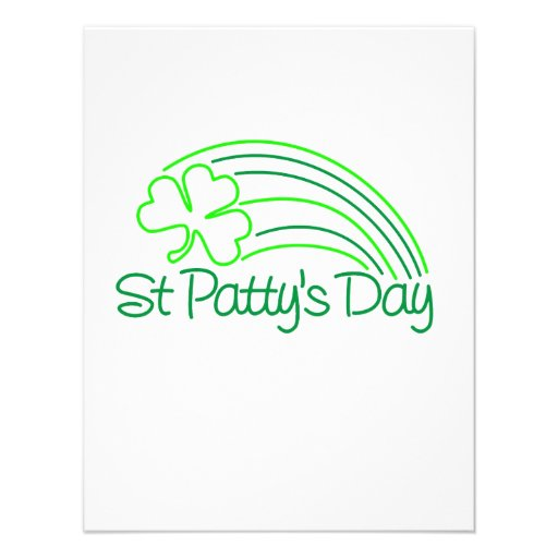 St Patty's Day Personalized Announcement