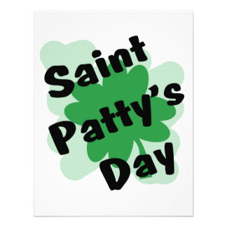 st pattys day personalized invitation