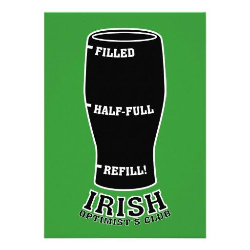 St. Patty's Day Invitation - Irish Optimists Club