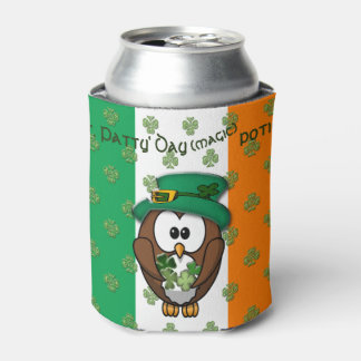 St. Patty's Day owl drink cooler