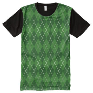 St. Patty's Day Plaid Pattern All-Over Print T-Shirt