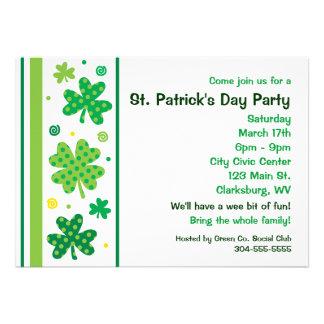 St. Patty's Day Shamrocks Custom Invitation