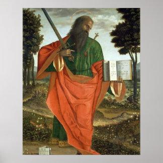 St. Paul, 1520 (oil on panel) Poster