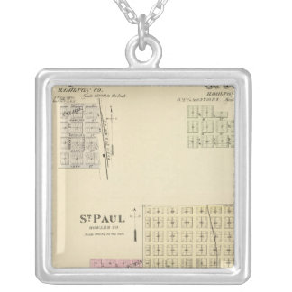 St. Paul, Marquette, and St. Joe, Nebraska Silver Plated Necklace