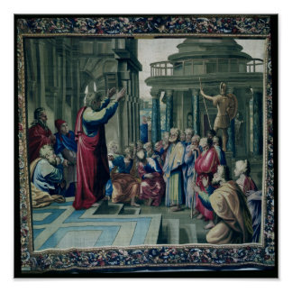 St. Paul Preaching at the Areopagus Poster