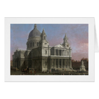 St. Paul's Cathedral, 1754 (oil on canvas) Card