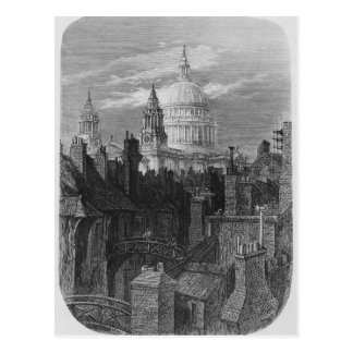 St. Paul's Cathedral and the slums Postcard
