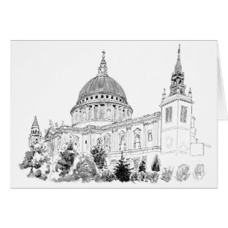 St Paul's Cathedral illustration card