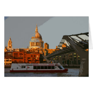 St Paul's Cathedral retro poster-style card