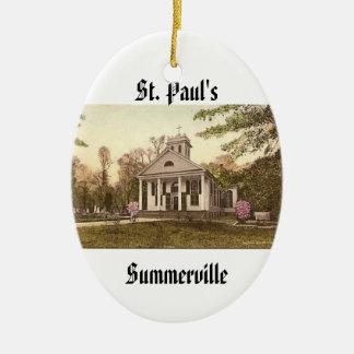 St. Paul's Episcopal Church, Summerville, SC Ceramic Oval Decoration