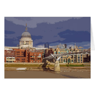 St Paul's London retro poster-style card