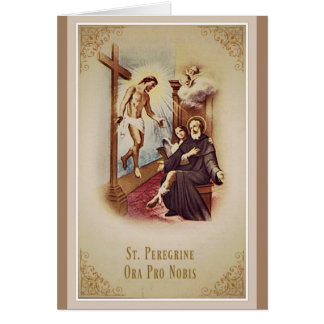 St. Peregrine Patron Saint of Cancer Jesus Cross Card