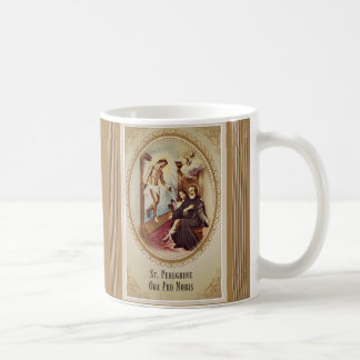 St. Peregrine Patron Saint of Cancer Jesus Cross Coffee Mug