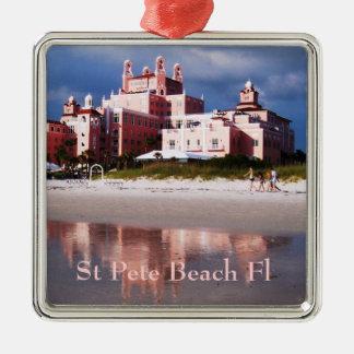St Pete Beach Castle Metal Ornament