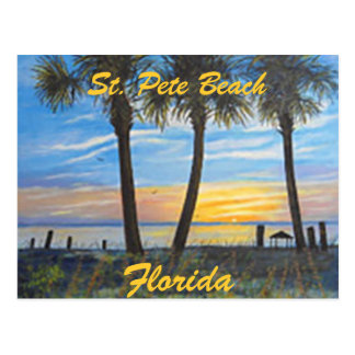 """ST. PETE BEACH FLORIDA PALMS POSTCARD"" POSTCARD"
