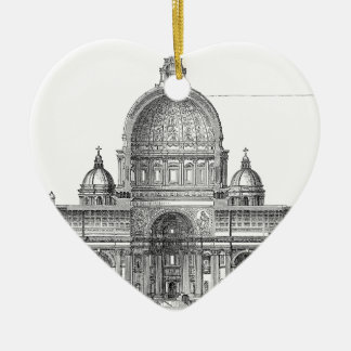 St. Peter Basilica - Rome, Italy Ceramic Heart Decoration