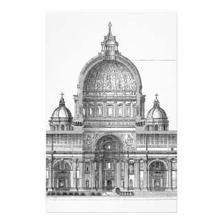 St. Peter Basilica - Rome, Italy Personalized Stationery