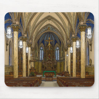 St Peter Catholic Church Painterly Mouse Pad