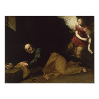 St. Peter Freed by an Angel, 1639 Poster