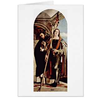 St. Peter Martyr And St. Vitus By Lorenzo Lotto Card