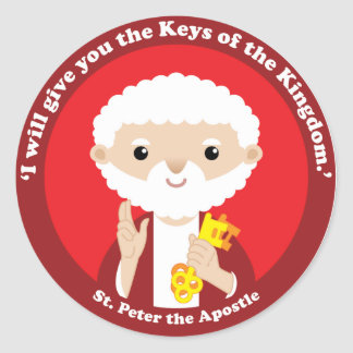St. Peter the Apostle Classic Round Sticker