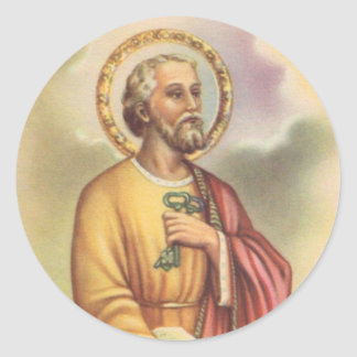 St. Peter the Apostle First Pope Classic Round Sticker