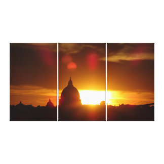 St Peter's Basilica in Rome at Sunset Canvas Print