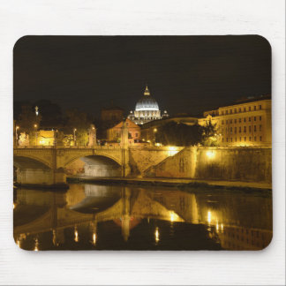 St. Peters Basilica in Vatican City at Night Mouse Pad