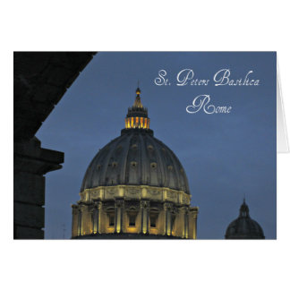 St. Peter's Basilica, Rome, Italy Card