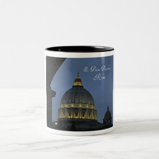 St. Peter's Basilica, Rome, Italy Two-Tone Coffee Mug