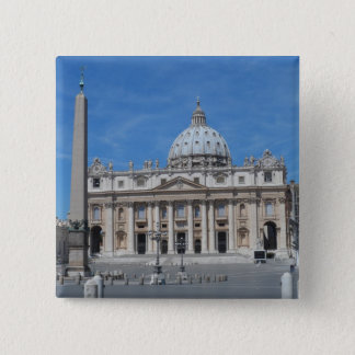St Peter's Basilica- Vatican City 15 Cm Square Badge