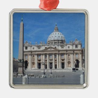 St Peter's Basilica- Vatican City Silver-Colored Square Decoration
