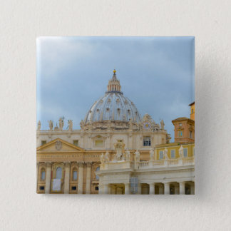 St. Peters Basilica Vatican in Rome Italy 15 Cm Square Badge