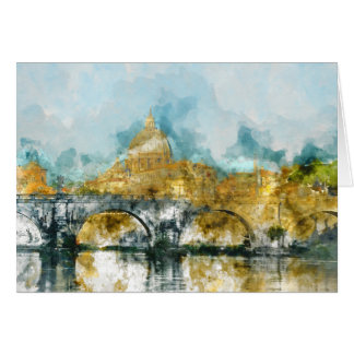 St. Peters Basilica Vatican in Rome Italy Card