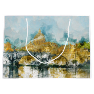 St. Peters Basilica Vatican in Rome Italy Large Gift Bag