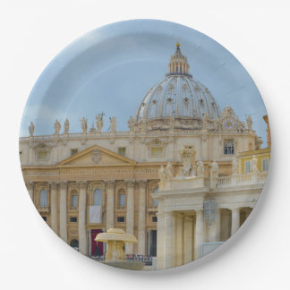 St. Peters Basilica Vatican in Rome Italy Paper Plate