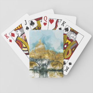 St. Peters Basilica Vatican in Rome Italy Playing Cards