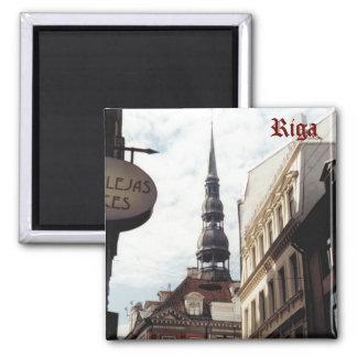 St Peter's Church, Riga, Latvia. Square Magnet