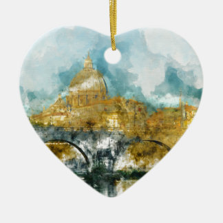 St. Peter's in Vatican City Rome Italy Ceramic Heart Decoration
