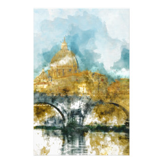 St. Peter's in Vatican City Rome Italy Customized Stationery