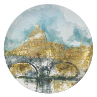 St. Peter's in Vatican City Rome Italy Plate