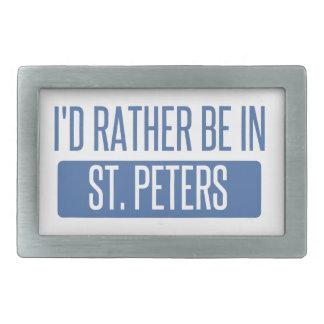 St. Peters Rectangular Belt Buckles