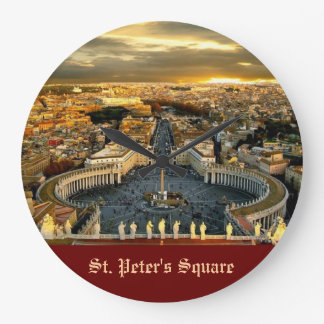 St. Peter's Square, Round (Large) Wall Clock