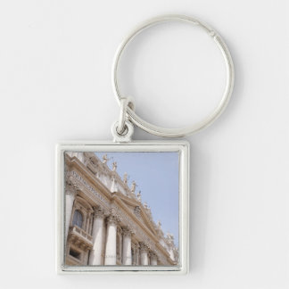 St Peter's Square, Vatican City, Rome, Italy Silver-Colored Square Key Ring