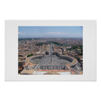 St. Peter's view, Rome Poster