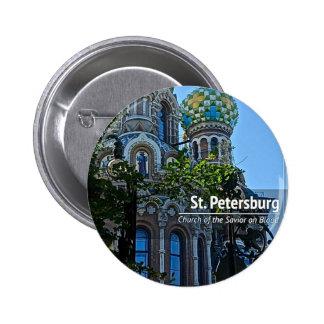 St. Petersburg, Church of the Savior on Blood 6 Cm Round Badge