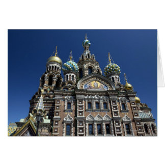 St Petersburg church, Russia Card