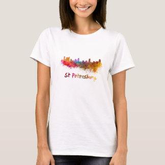 St Petersburg FL skyline in watercolor T-Shirt