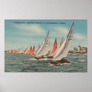 St Petersburg FL - View of Lightning Regatta Print